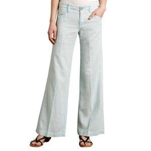 Pilcro Linen Blue Wide Leg Pants size 2